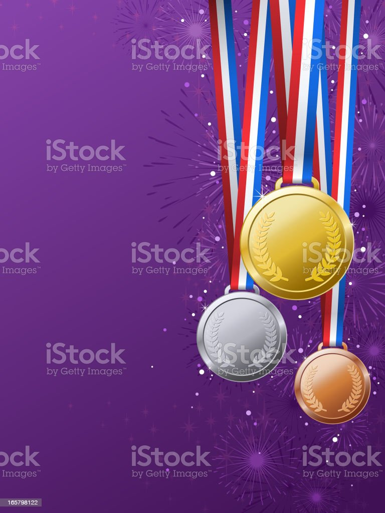 Medals Awards Background royalty-free stock vector art