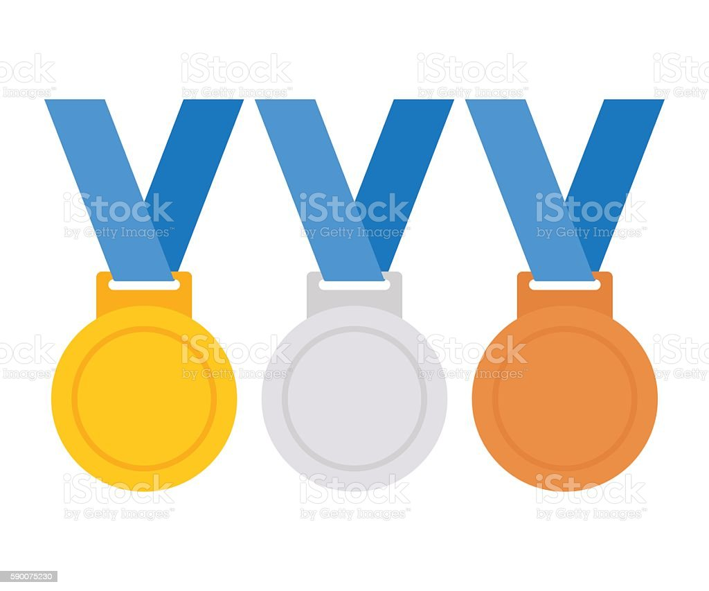 Medals collection vector art illustration