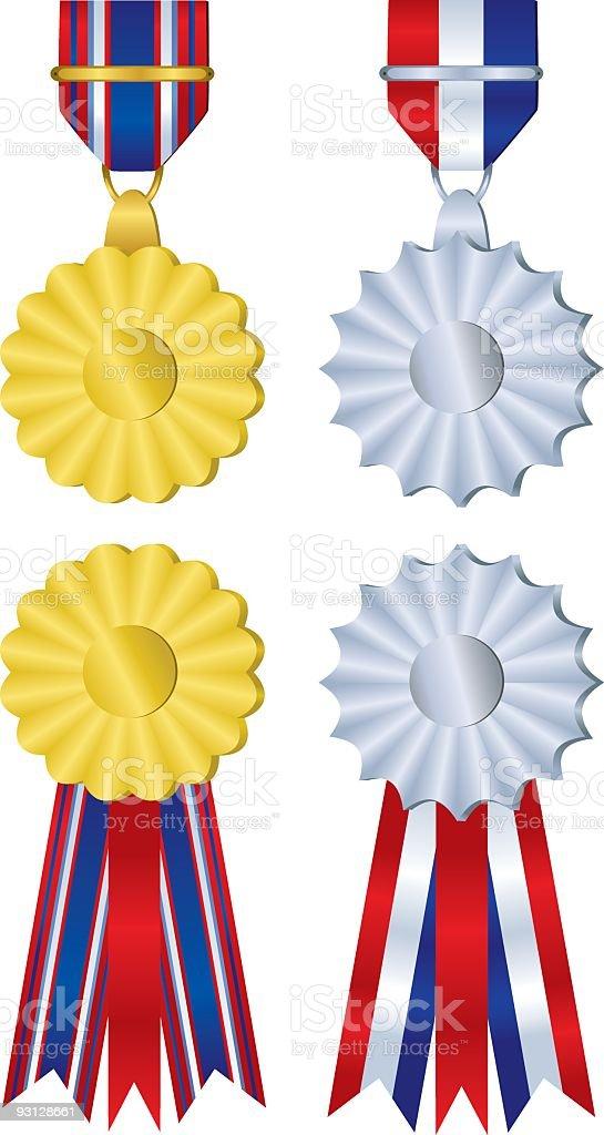 Medals Illustration royalty-free stock vector art