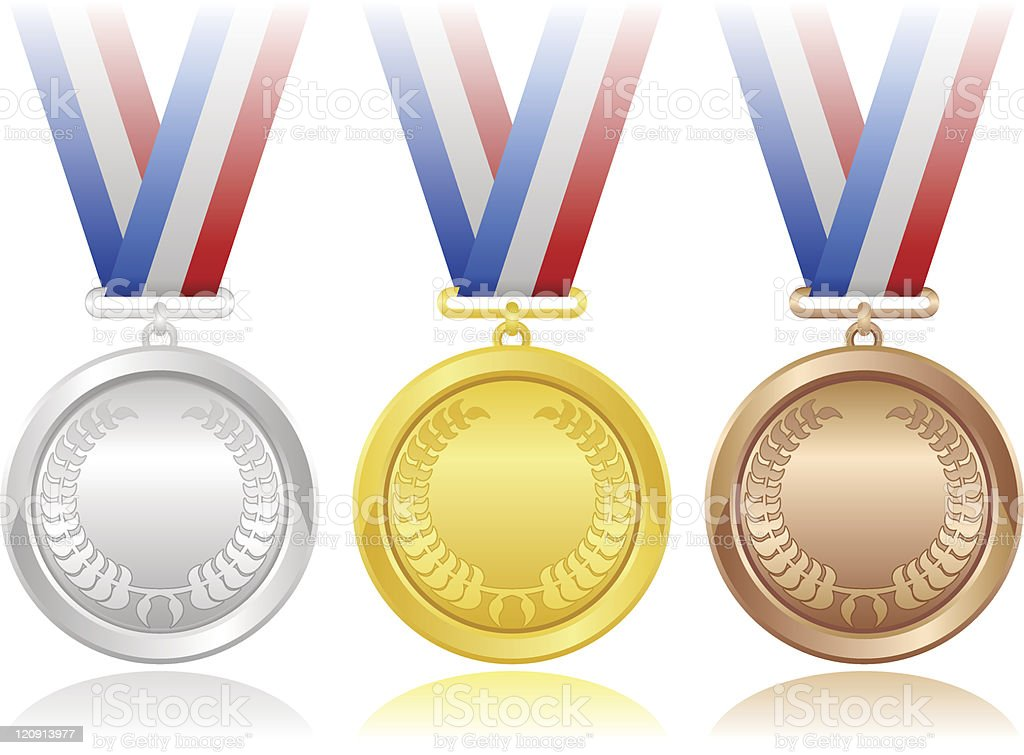 Medals Set royalty-free stock vector art