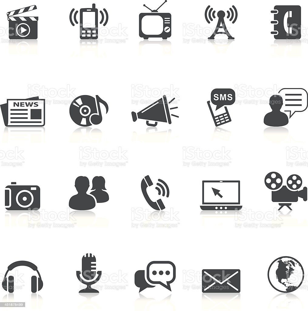 media and communication icons royalty-free stock vector art