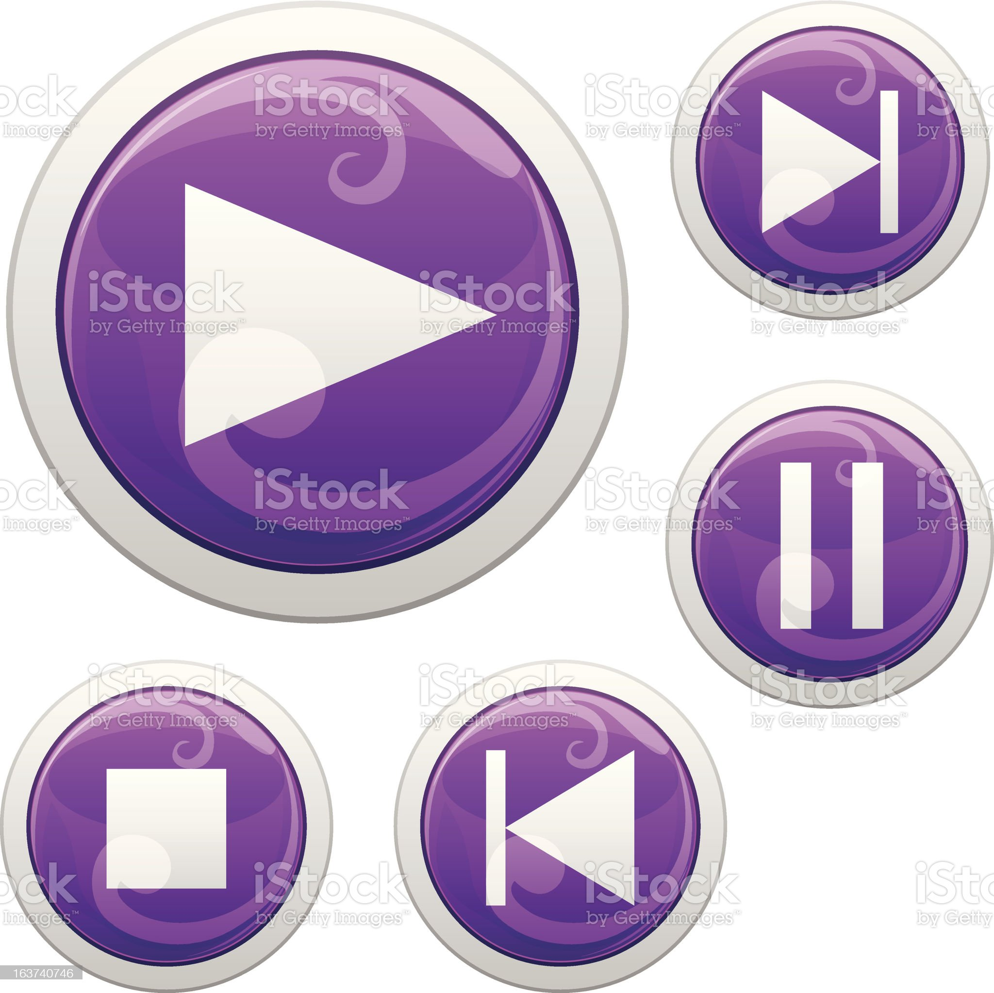 media buttons royalty-free stock vector art