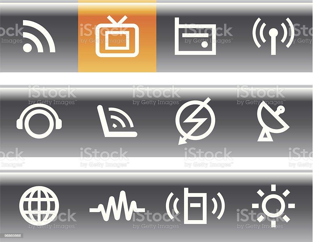 Media & Communications  - Vector Icons Set vector art illustration