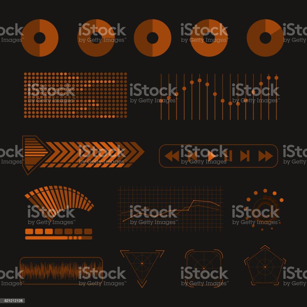 Media design elements vector art illustration