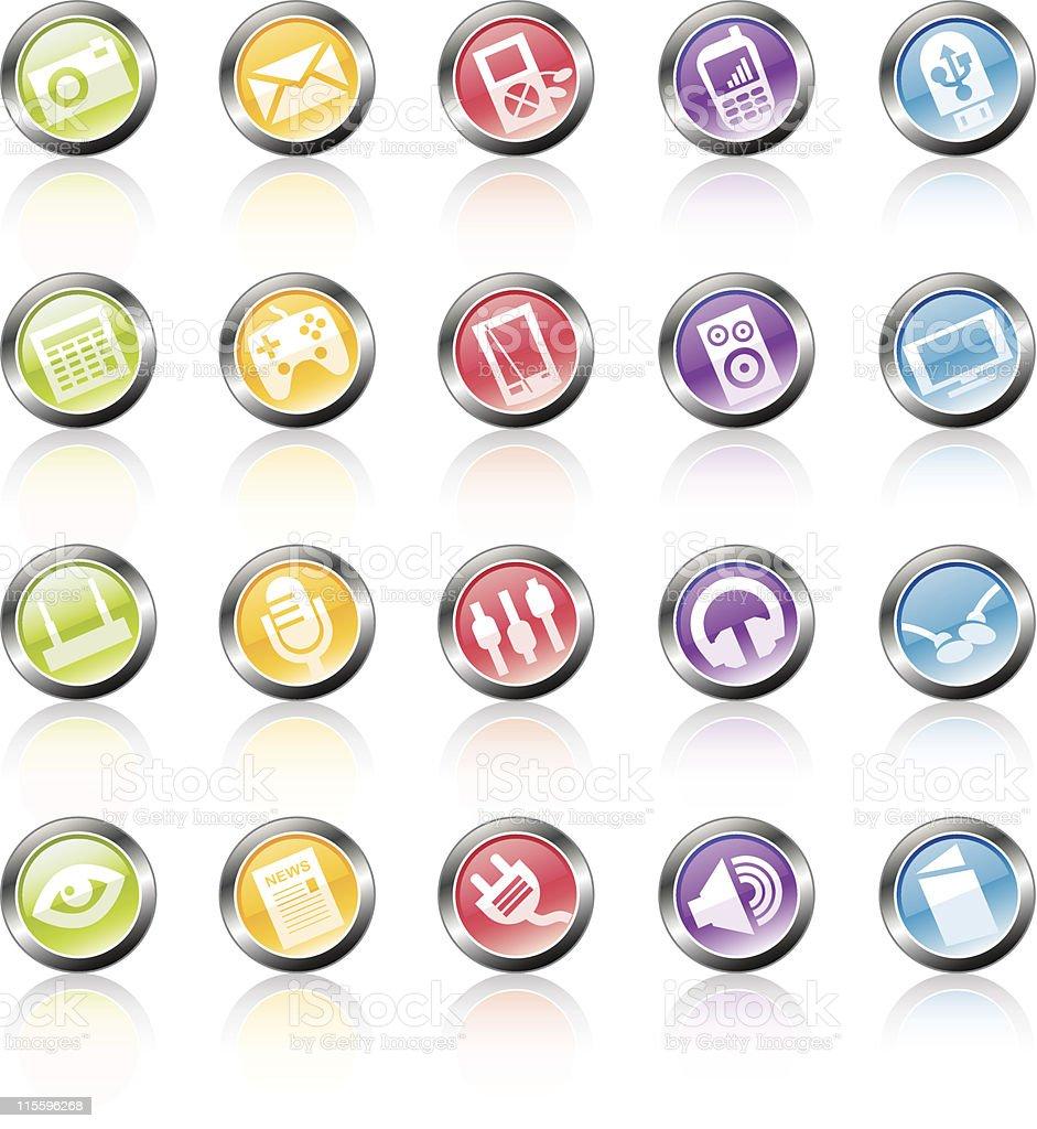 Media Device Icons royalty-free stock vector art