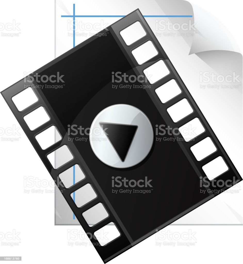 Media File royalty-free stock vector art