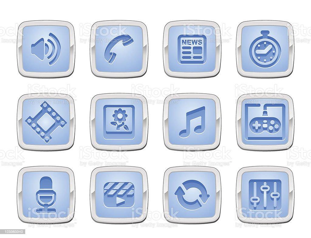 media icon set royalty-free stock vector art