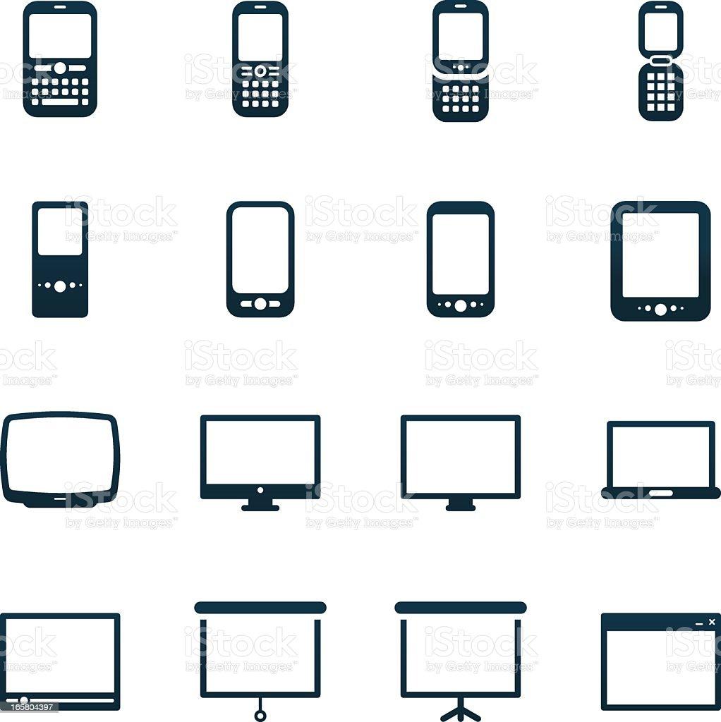 Media Icons | black series royalty-free stock vector art
