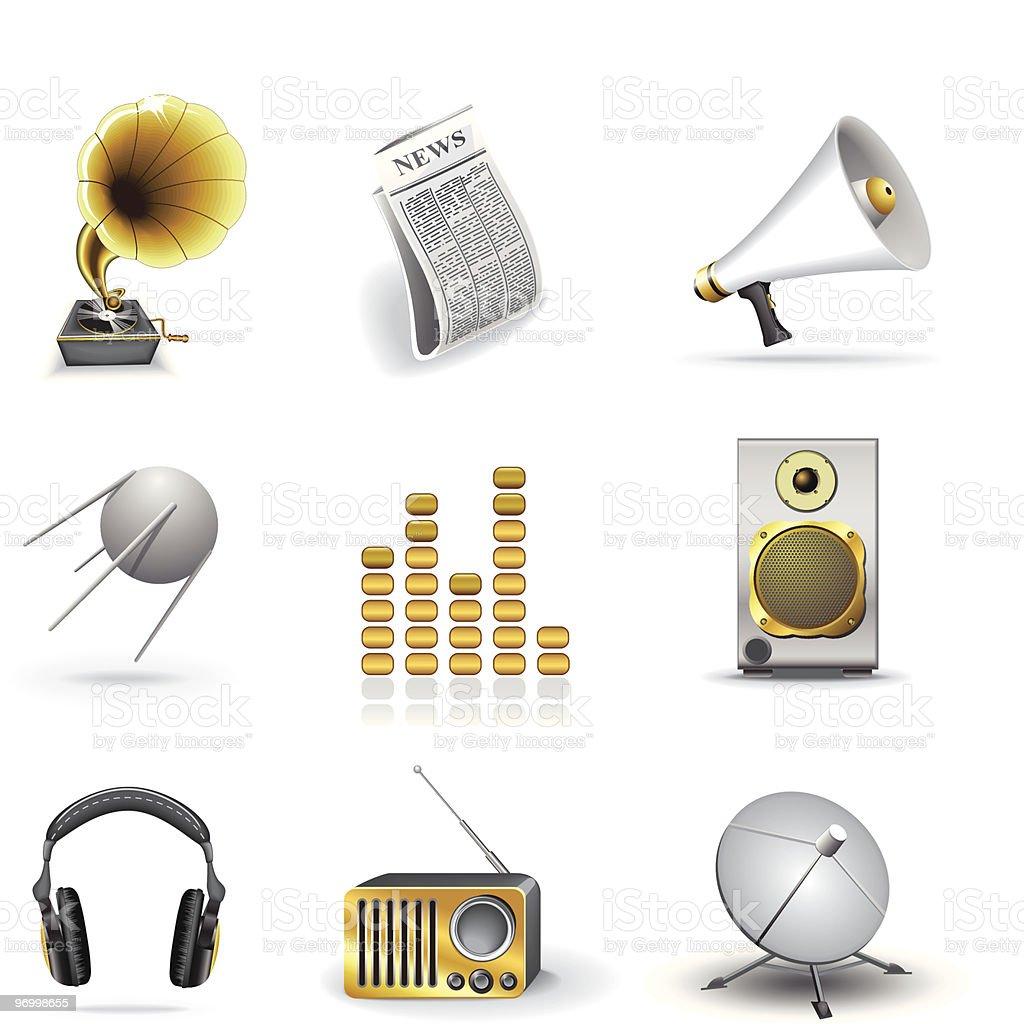 Media icons royalty-free stock vector art