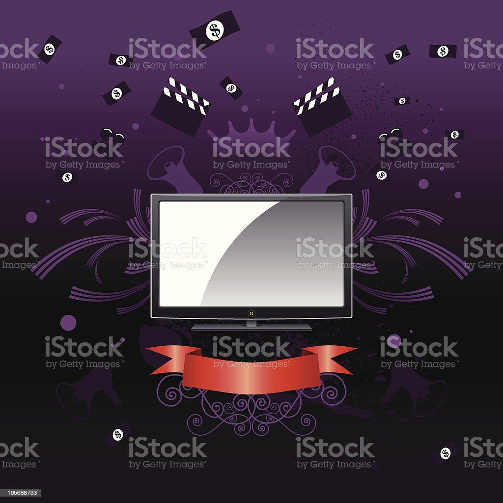 Media king - tv coat of arms royalty-free stock vector art