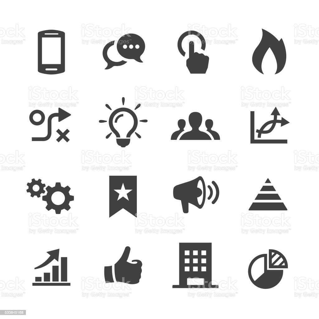 Media Marketing Icons - Acme Series vector art illustration