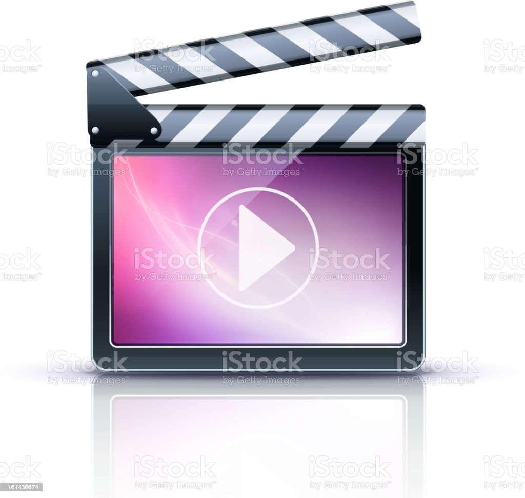 Media player icon against white background royalty-free stock vector art