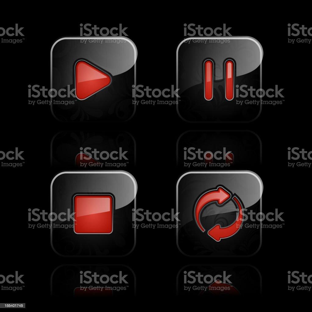 Media player icon set royalty-free stock vector art