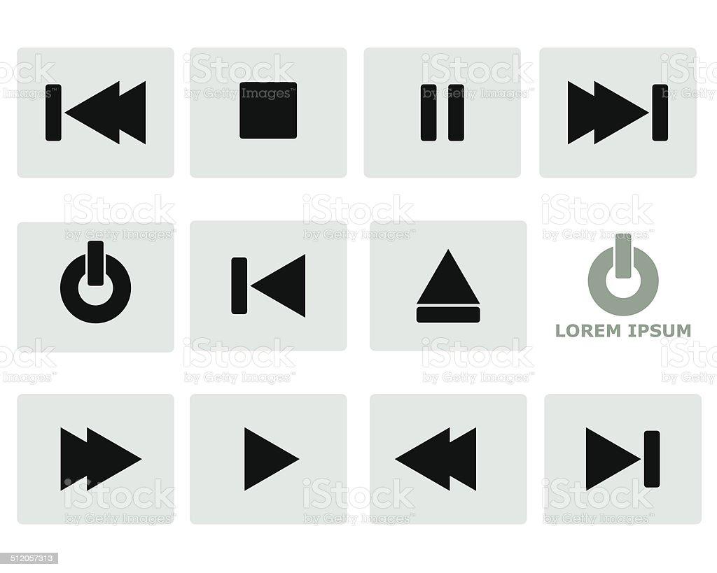 Media Player Icon Symbol vector art illustration