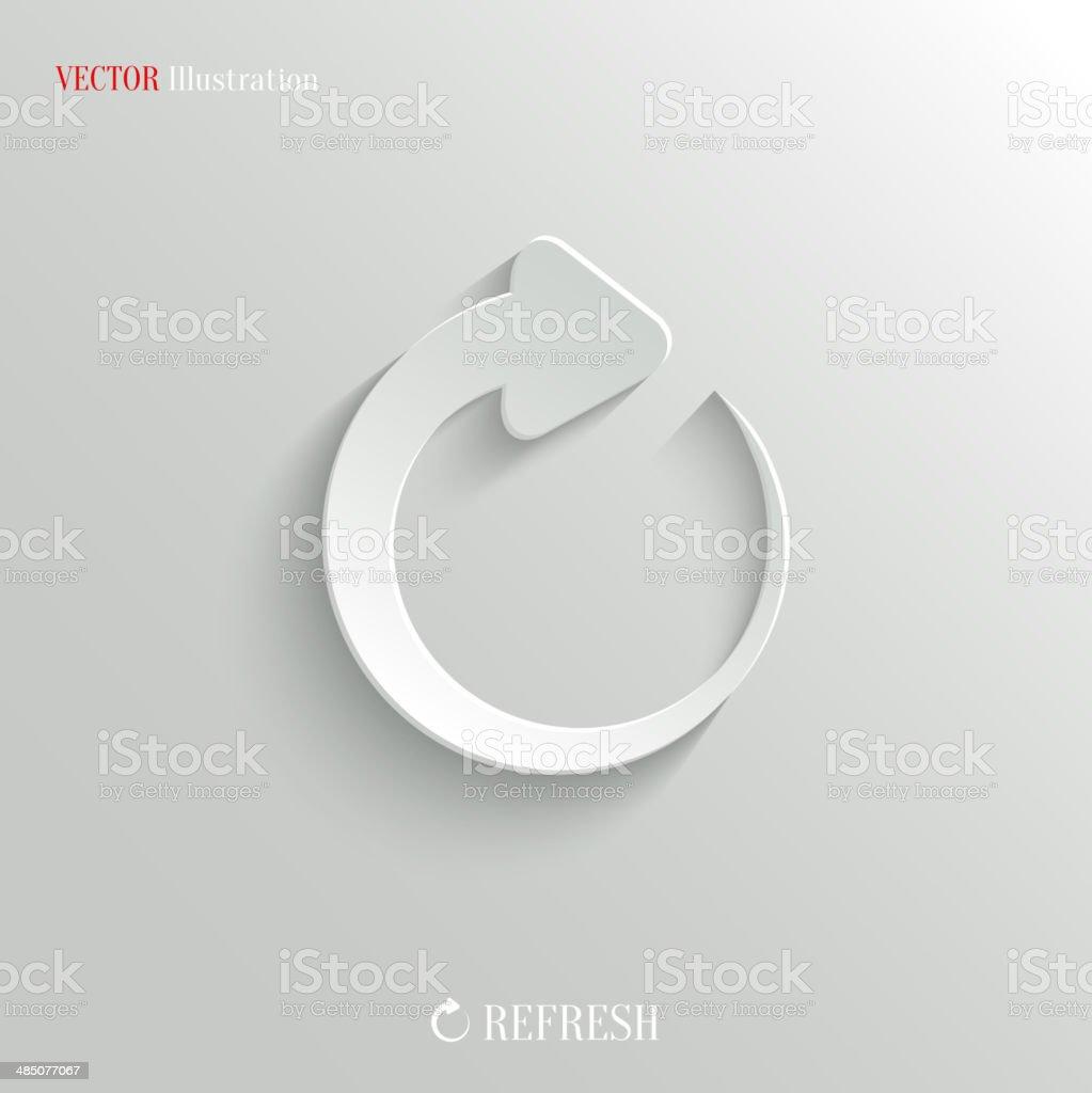 Media player icon - vector web background vector art illustration