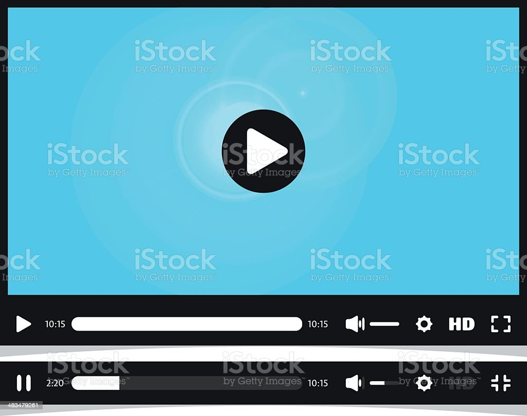 Media player interface. Video online. vector art illustration