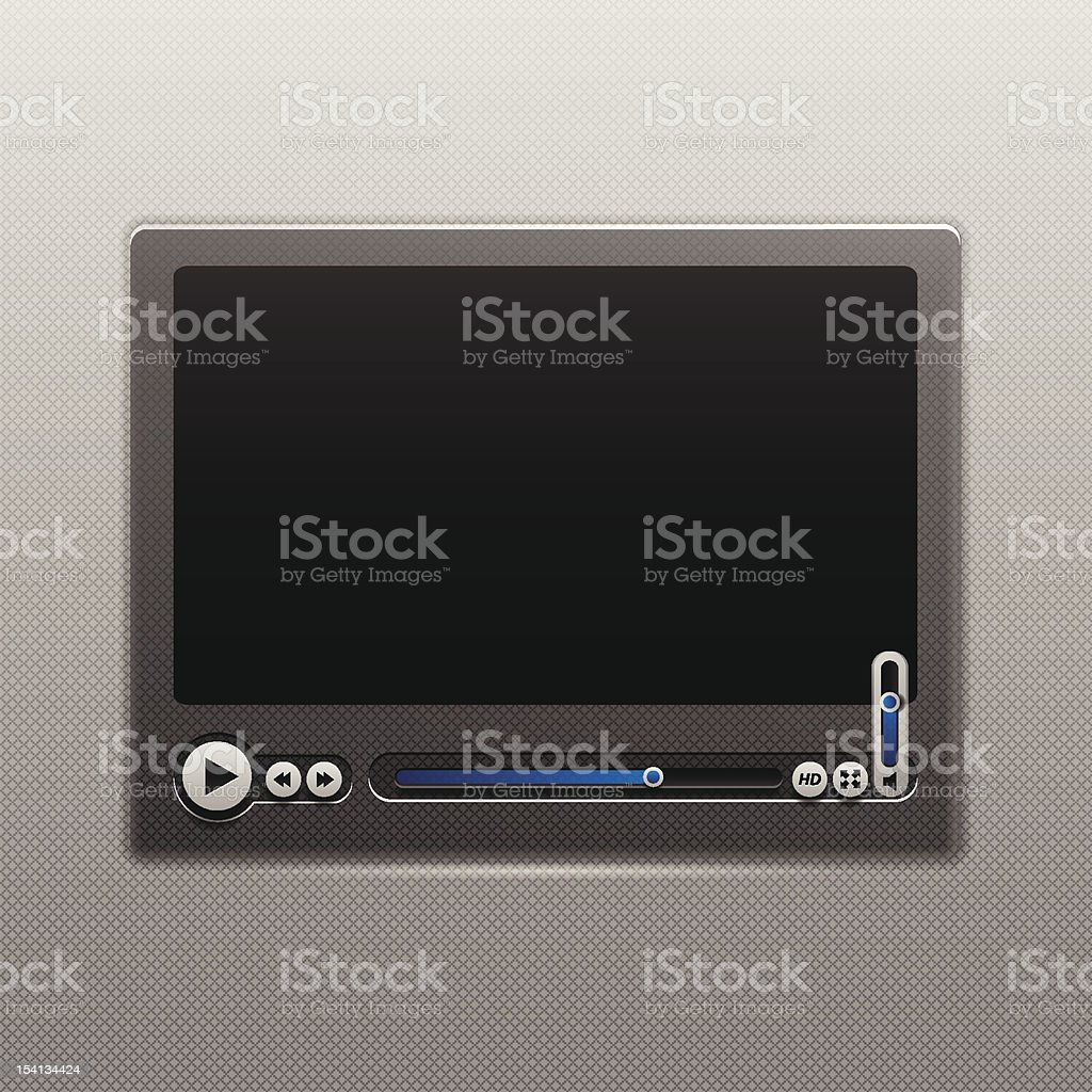 Media Player User Interface royalty-free stock vector art