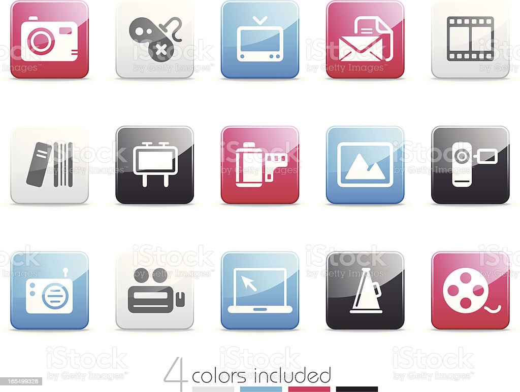 Media & Publishing icons | Senso series royalty-free stock vector art