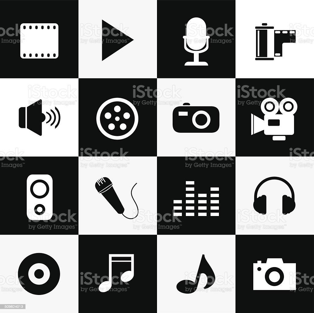 media symbol vector art illustration
