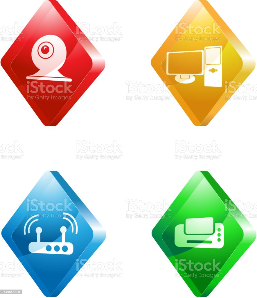 media vector icons royalty-free stock vector art