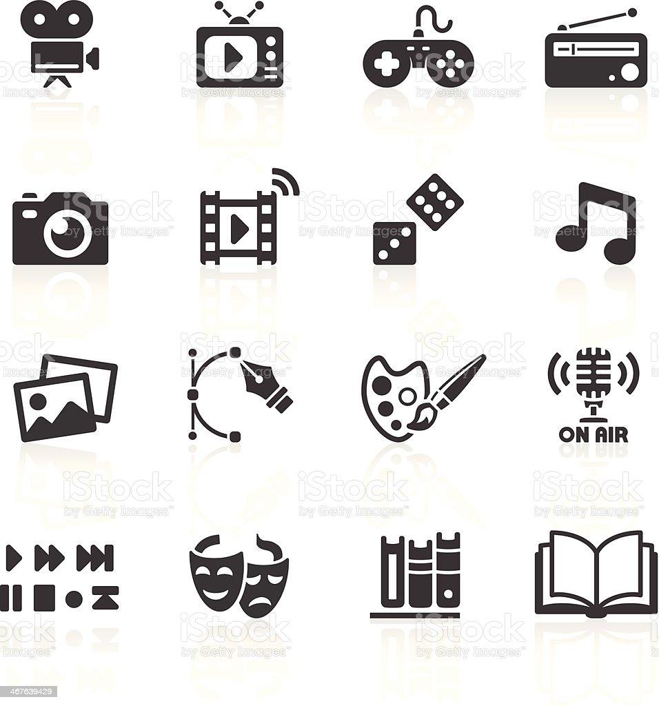 Media Web Icons vector art illustration