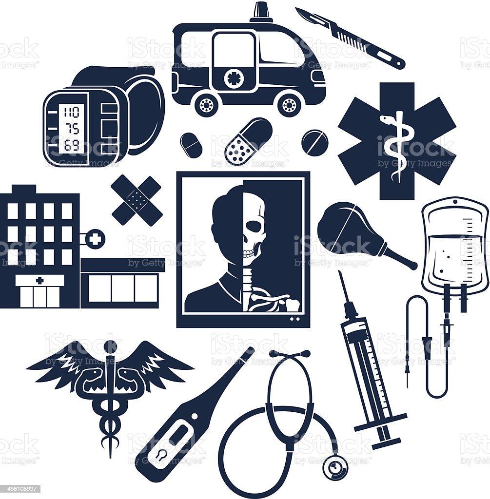 Medic set royalty-free stock vector art