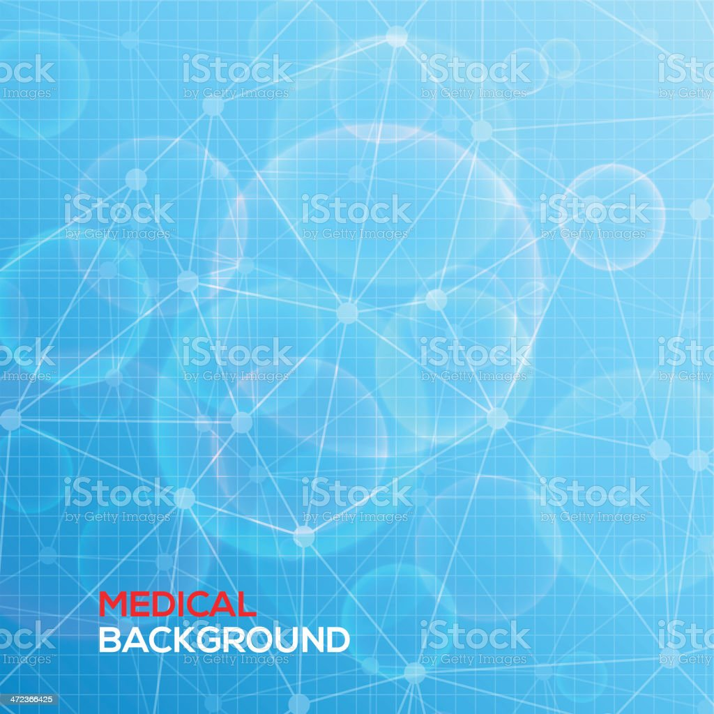 Medical abstract background. vector art illustration