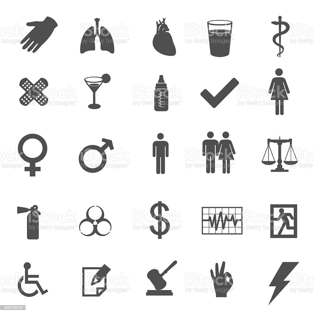 medical and healtcare vector icons vector art illustration