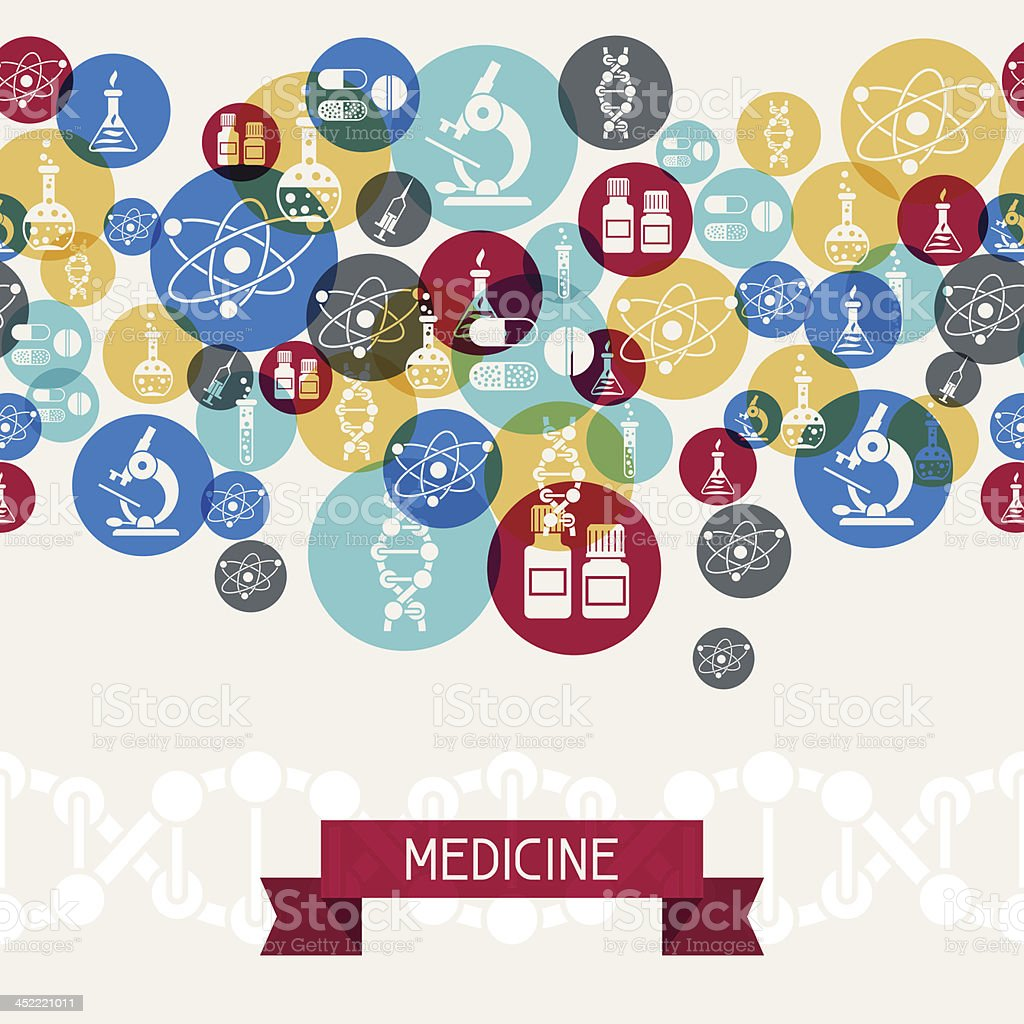 Medical and health care background. vector art illustration