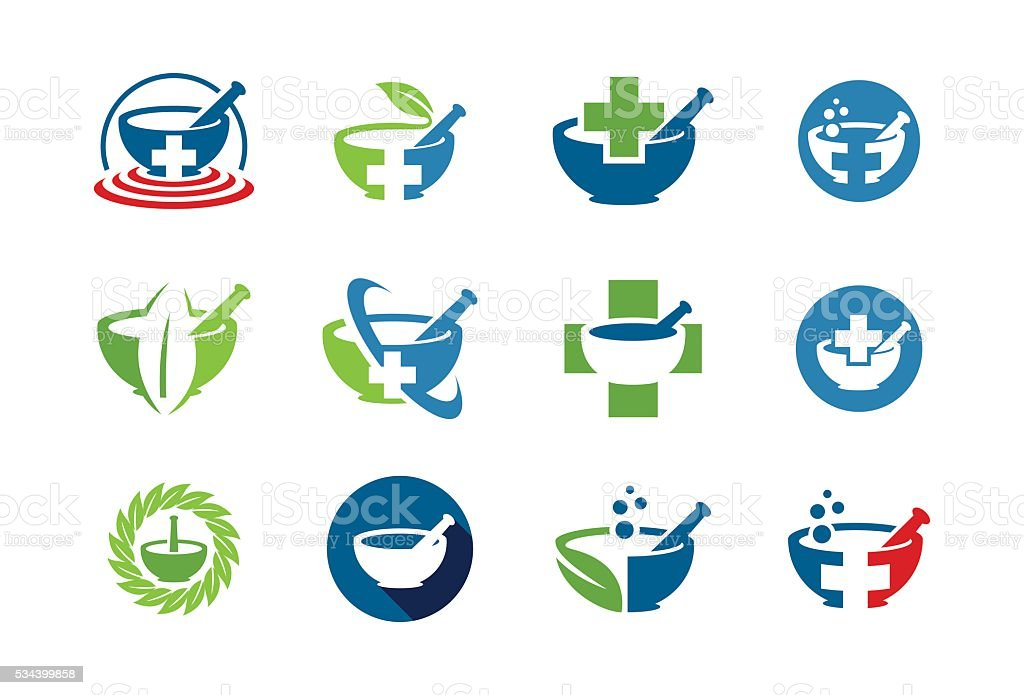 Medical and Health care Icon Set vector art illustration