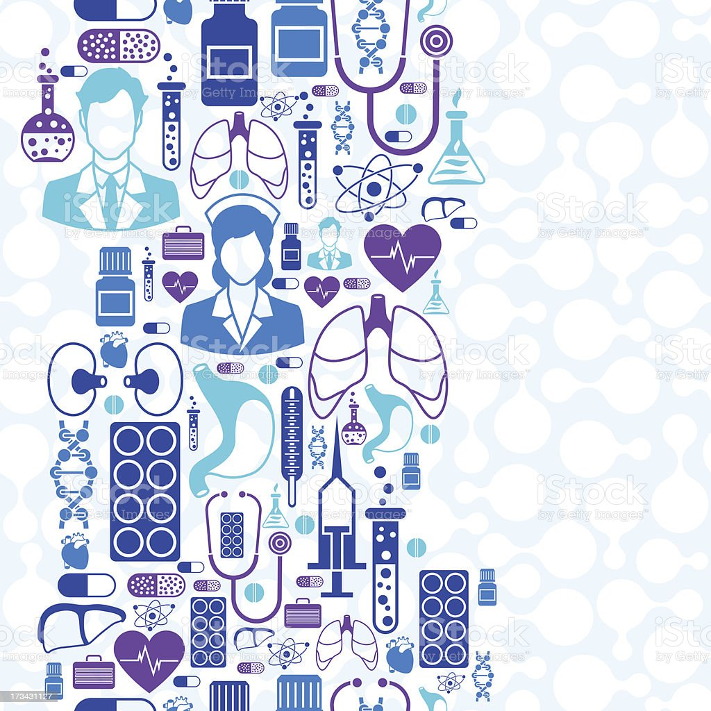 Medical and health care seamless pattern. royalty-free stock vector art