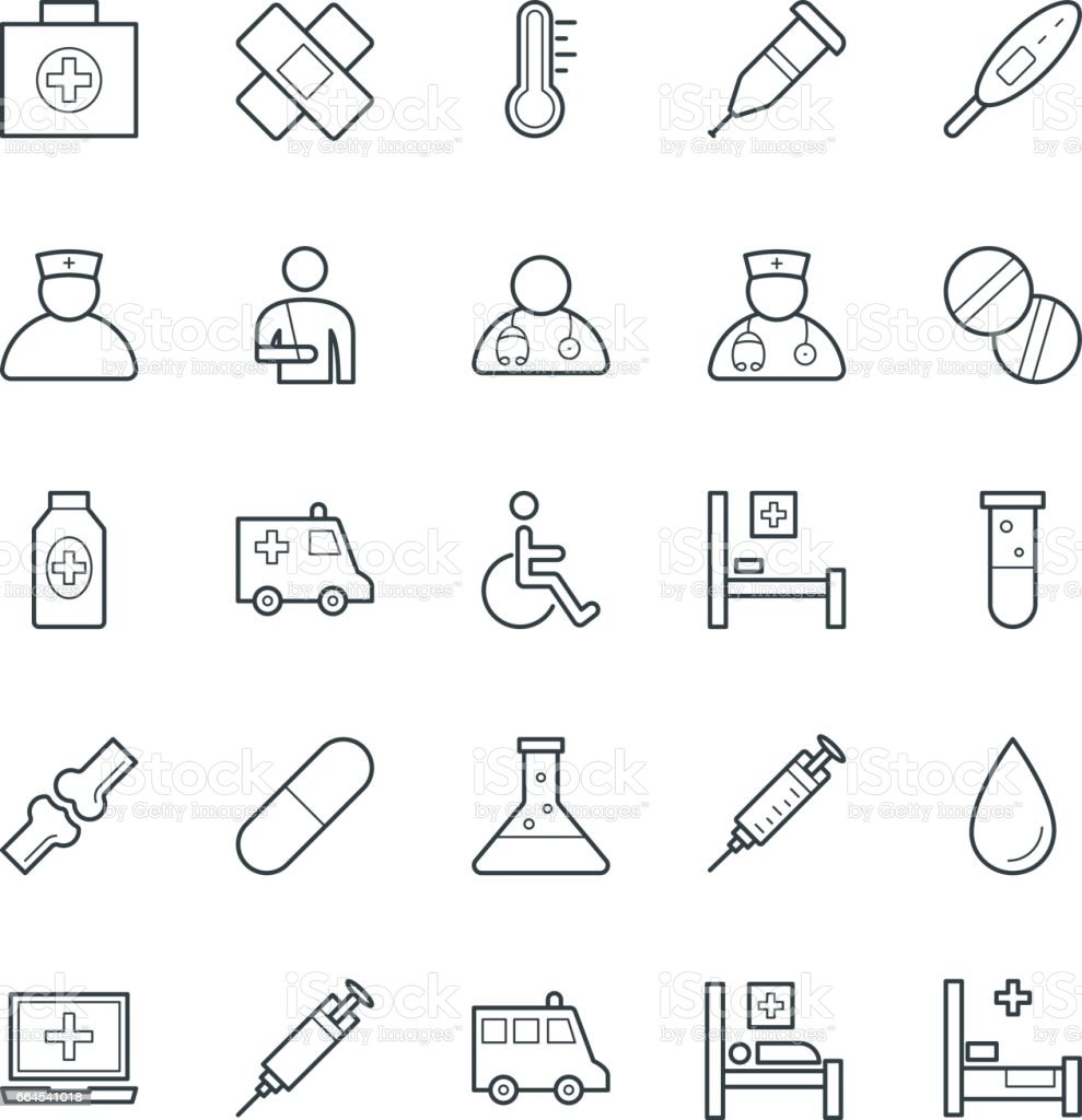 Medical and Health Cool Vector Icons 1 vector art illustration