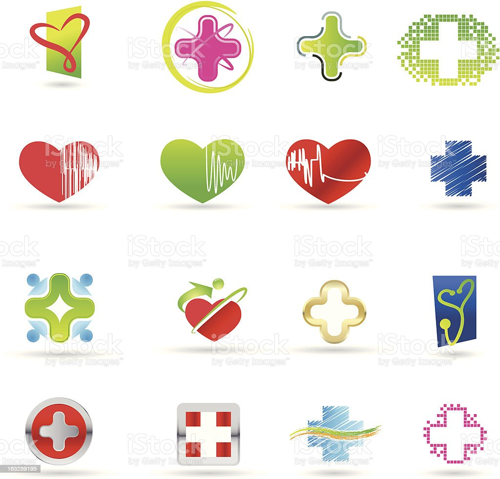 Medical and health icon set royalty-free stock vector art