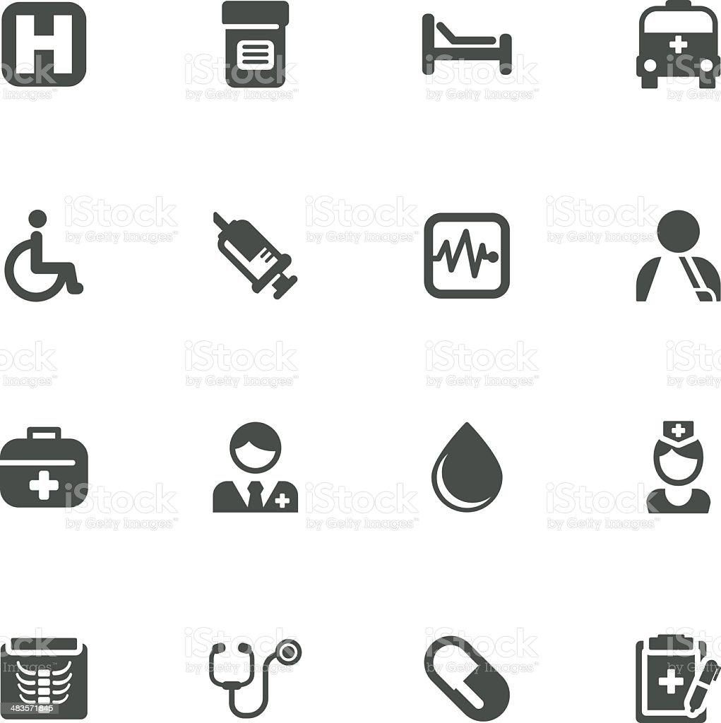 medical and health icons royalty-free stock vector art