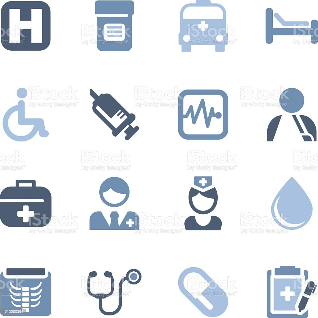 medical and health icons vector art illustration