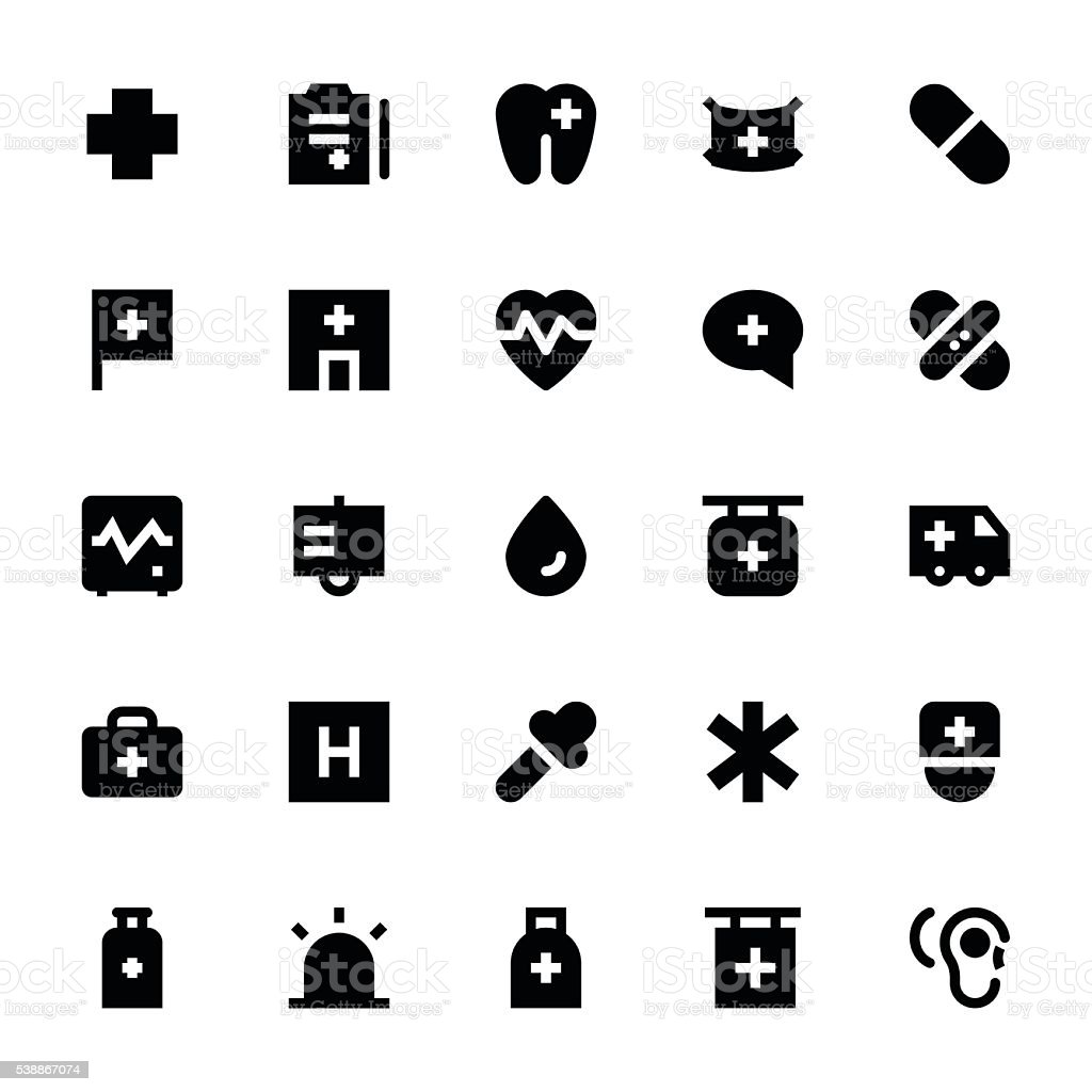 Medical and Health Vector Icons 1 vector art illustration