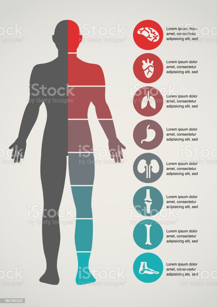 Medical and healthcare background vector art illustration