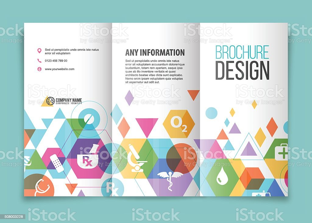 Medical And Healthcare Brochure Stock Vector Art   Istock