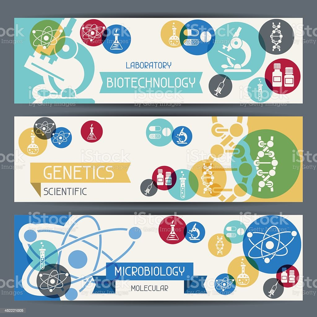 Medical and healthcare horizontal banners royalty-free stock vector art