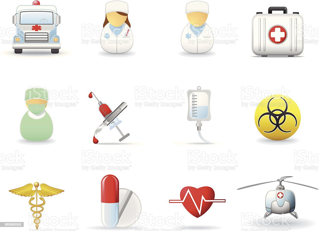 Medical and health-care icons royalty-free stock vector art