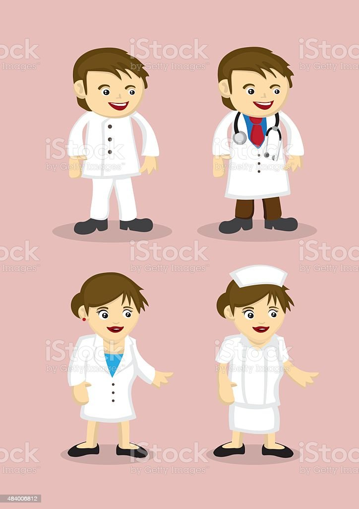 Medical and Healthcare Professionals Vector Icons vector art illustration