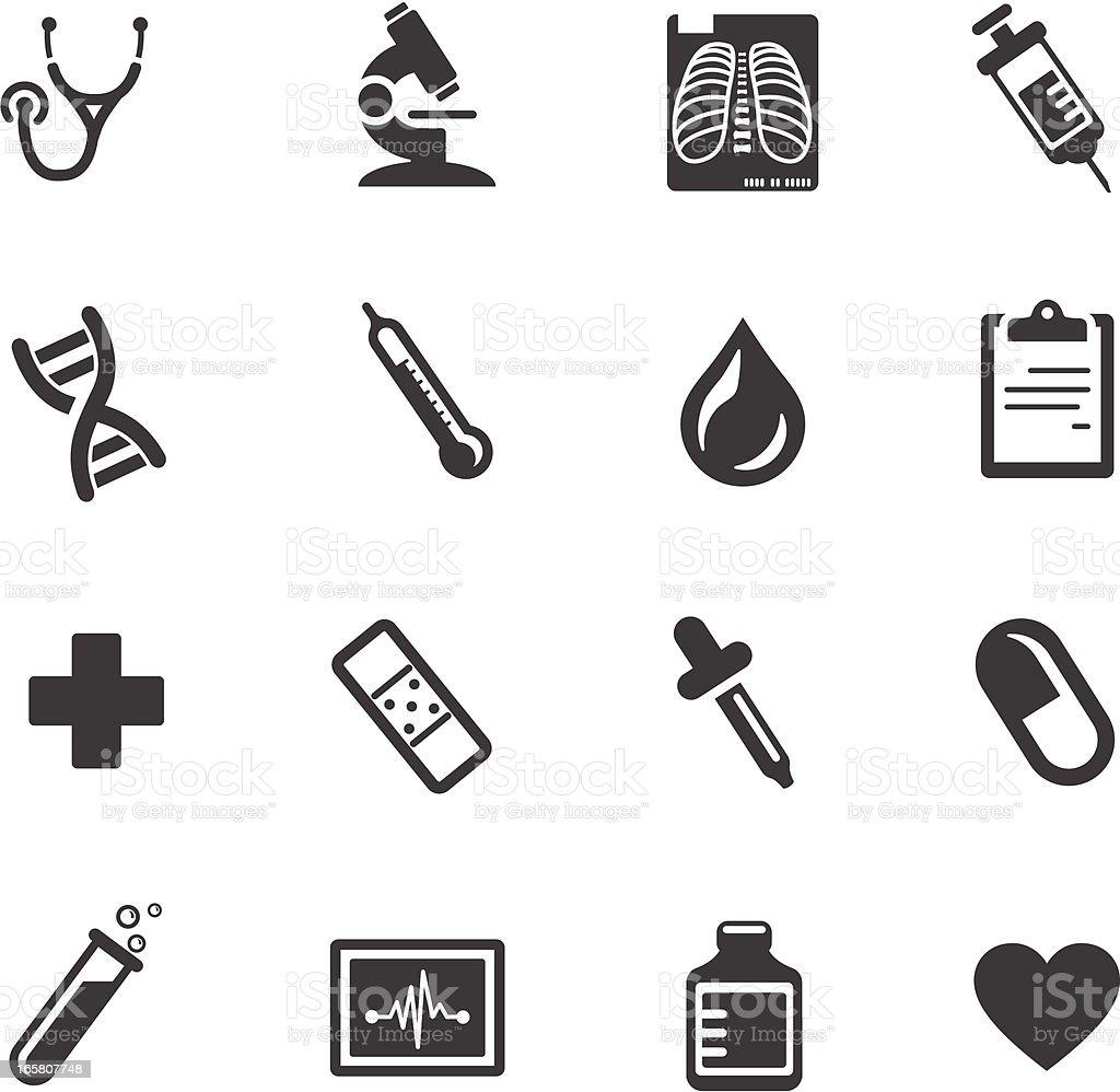 Medical and Healthcare Symbols vector art illustration