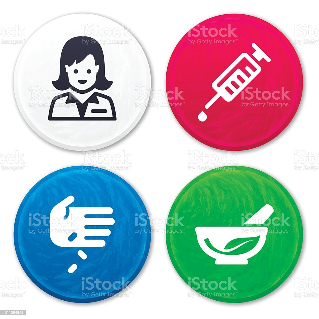 Medical and Pharmacy Icons vector art illustration