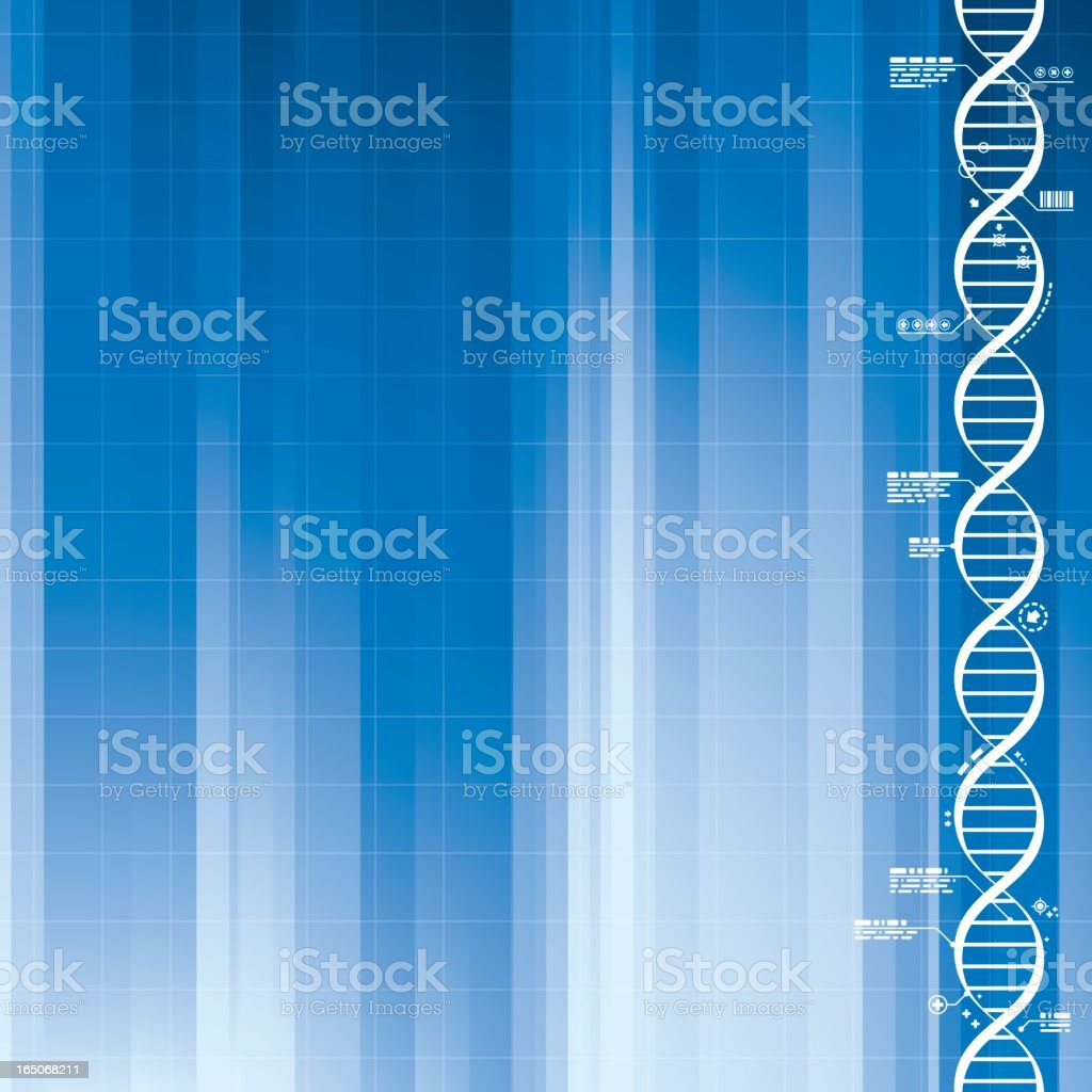 DNA Medical Background in 2 Colors royalty-free stock vector art