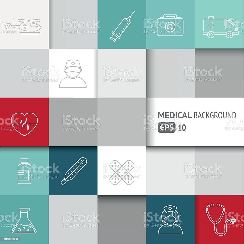 Medical Background - Infographics vector art illustration