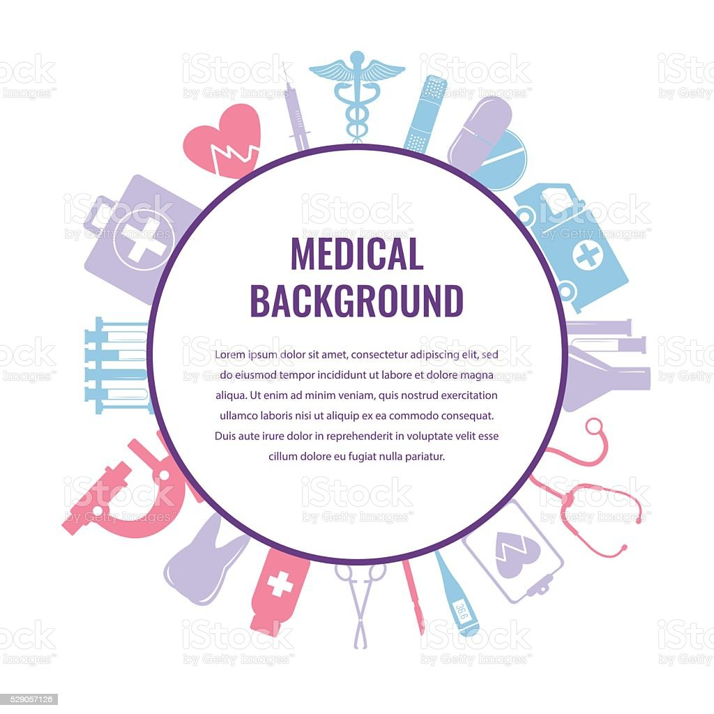 Medical background template. Vector royalty-free stock vector art