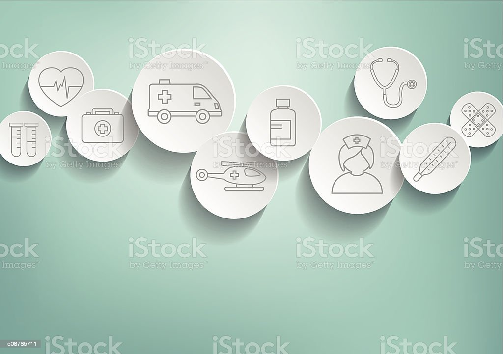 Medical Background vector art illustration