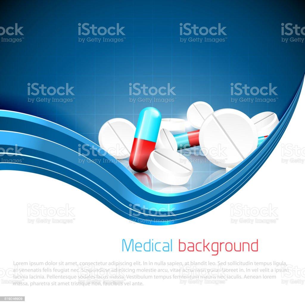 Medical background vector art illustration
