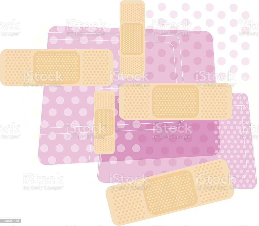 medical bandages royalty-free stock vector art