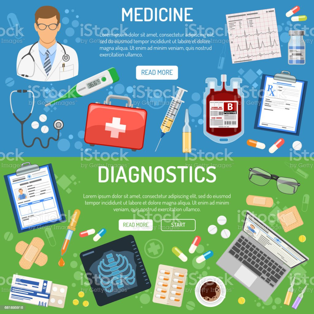 medical banner and infographics vector art illustration